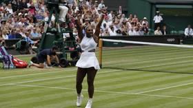 Wimbledon: 'Pumped' Serena Williams battles past compatriot Riske into semis