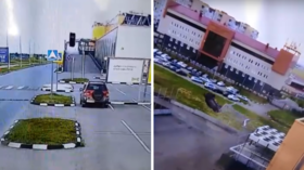 Hot wheels: Russian driver sends car FLYING & flips it twice at shopping mall parking lot (VIDEOS)