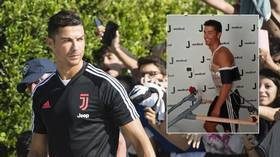WATCH: Cristiano Ronaldo is put through his paces as he reports for Juventus training (VIDEOS)