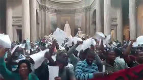 Undocumented 'Black Vest' migrant protesters occupy Pantheon in Paris, demand papers (VIDEOS)