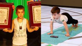 6yo 'Chechen Swarzenegger' sets 2 push-up 'world records' totaling 9,000 reps (VIDEO)