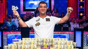 $10 million man: Hossein Ensan pips 8,568 rivals to claim top prize at World Series of Poker (VIDEO)