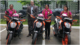 'Biking Queens' from India visit Moscow as part of mega trip