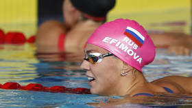 Russian world breaststroke champ Efimova keeps fit with quarantine press-ups, delights fans with topless beach snap (PHOTOS)