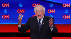 Sanders scolds CNN for using Republican talking points and showing healthcare ads during #Demdebate