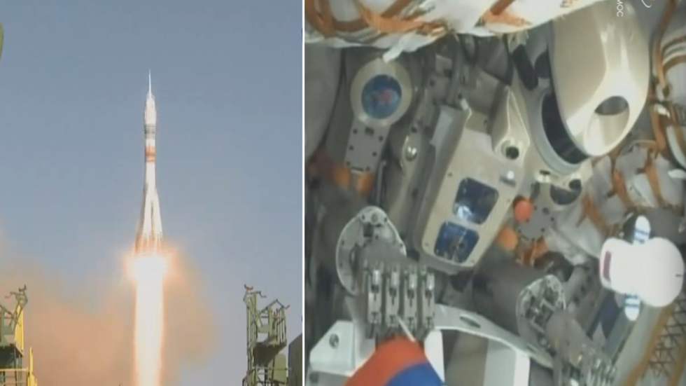 Russian humanoid robot blasts off to Space Station