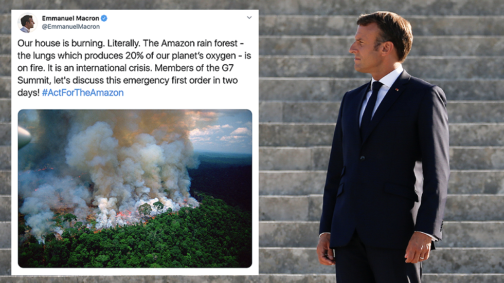 Macron posts Amazon fire photo that's not from this year ...
