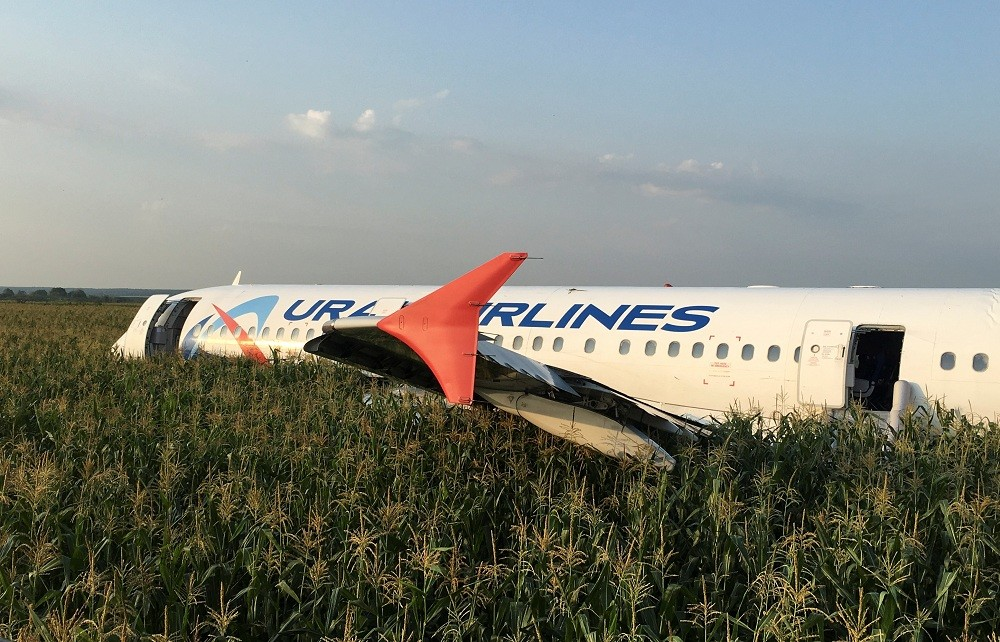 Russian plane emergency landing  news