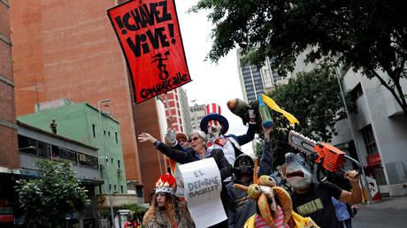 Supporters of Venezuela's President Nicolas Maduro rally in Caracas, Venezuela July 13, 2019