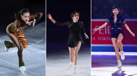 Alina Zagitova / Evgenia Medvedeva / Elizaveta Tuktamysheva © Global Look Press