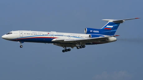 File photo of the Open Skies Tupolev 154M-Lk-1 of the Russian Air Force