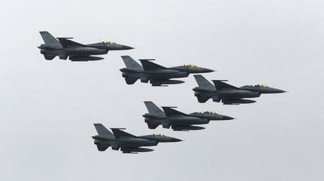 Taiwan is looking for upgraded F-16 fighter jets from the US (file photo)