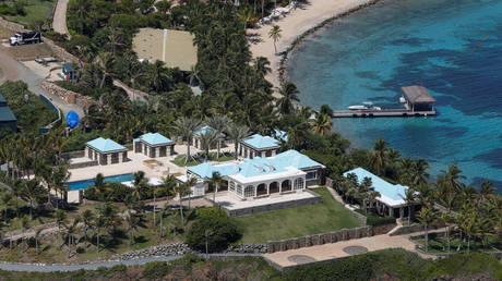 FILE PHOTO: Facilities at Little St. James Island, one of the properties of Jeffrey Epstein. © Reuters / Marco Bello