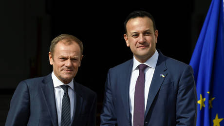 Tusk accuses UK's Johnson of pushing towards post-Brexit Irish border controls