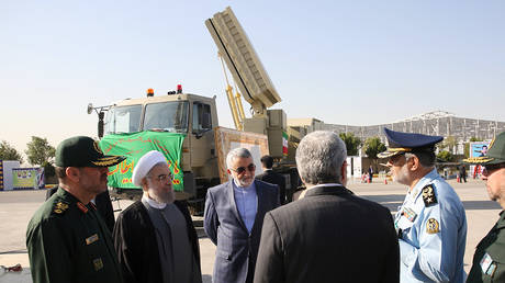 FILE PHOTO An early model of Bavar 373 air defense missile system displayed in Tehran, Iran. 2016. © AFP