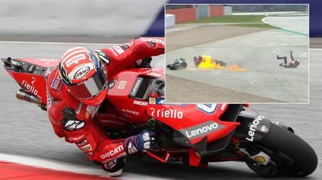 © Main: Imago-images  Inset: Twitter MotoGP