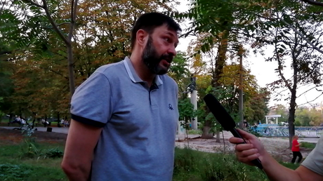 """Freedom of speech in Ukraine has been reduced to an empty formula, journalist Kirill Vyshinsky told RT after he was released """"on personal recognizance"""" from a Ukranian jail © Ruptly"""