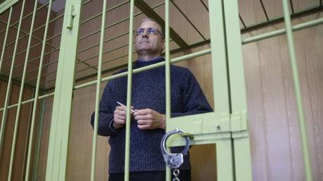 FILE PHOTO. Paul Whelan is seen at a Moscow court.