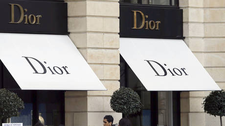 Logos of Dior brand are seen outside a Dior store in Paris, France, March 3, 2017. © REUTERS/Regis Duvignau