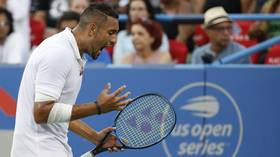 Washington Open: Nick Kyrgios asks fan for advice on where to play match-point serve (VIDEO)