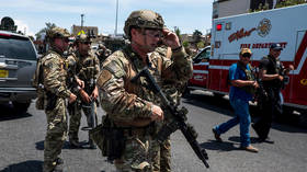 Heavily armed police respond to the shooting near Cielo Vista Mall in El Paso, Texas on August 3, 2019.
