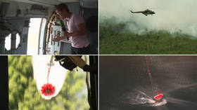 This is how water bombing of Siberian wildfires looks up close and personal (VIDEO)