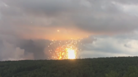 Locals & soldiers suffer burns and shrapnel wounds after artillery depot explodes in Siberia (VIDEO)