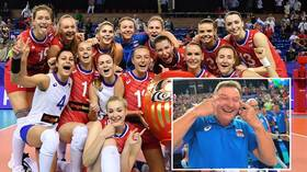 Russia volleyball coach 'surprised' slant eye gesture caused offense after South Korea victory