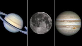 Magic moments: Jupiter, Saturn and Moon to align this