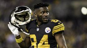 NFL star Antonio Brown threatens to walk out on $30 million contract over helmet row