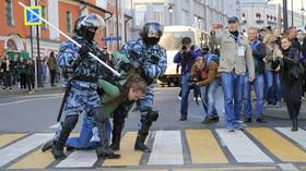 Over 130 detained in Moscow after protesters break off from peaceful rally to walk the streets