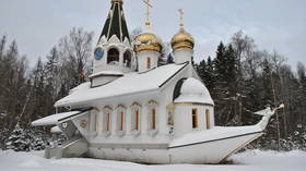 A boat church is parked firmly in a Moscow forest: Here's why (PHOTOS)