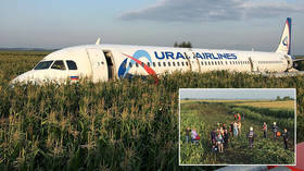 Russian airliner with 233 on board suffers birdstrike, makes BELLY LANDING near Moscow (VIDEO)