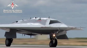 WATCH Latest military video of Russia's new heavy combat drone on its maiden flight