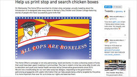 'All cops are boneless': UK govt's #knifefree chicken boxes ridiculed by crowdfunded alternative