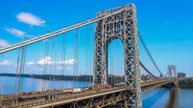 Bomb scare shuts down New York's George Washington Bridge, triggers transit collapse (VIDEOS)