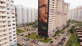 There's a secret message in Russia's largest mural of Gagarin; want to know what it says?