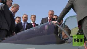 'Yes, you can buy it': Putin shows Erdogan Russian 5th gen Su-57 fighter jet (VIDEO)