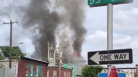 Out-of-control fire demolishes historic Philadelphia church (VIDEO)