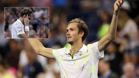 'Sorry guys and thank you!' Taped-up bad boy Medvedev battles past Wawrinka and into US Open semis