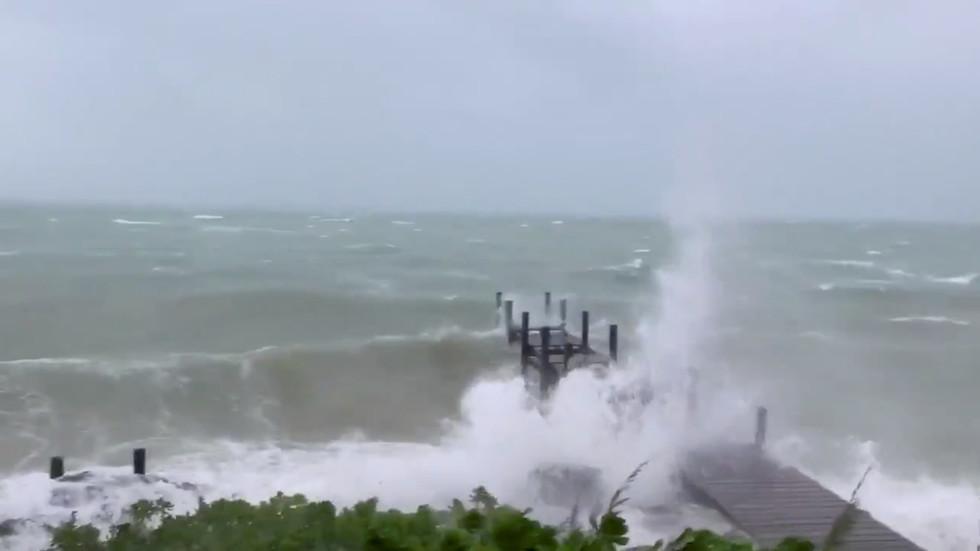Hurricane Dorian smashes houses & cars, knocks trees on destructive landfall in the Bahamas