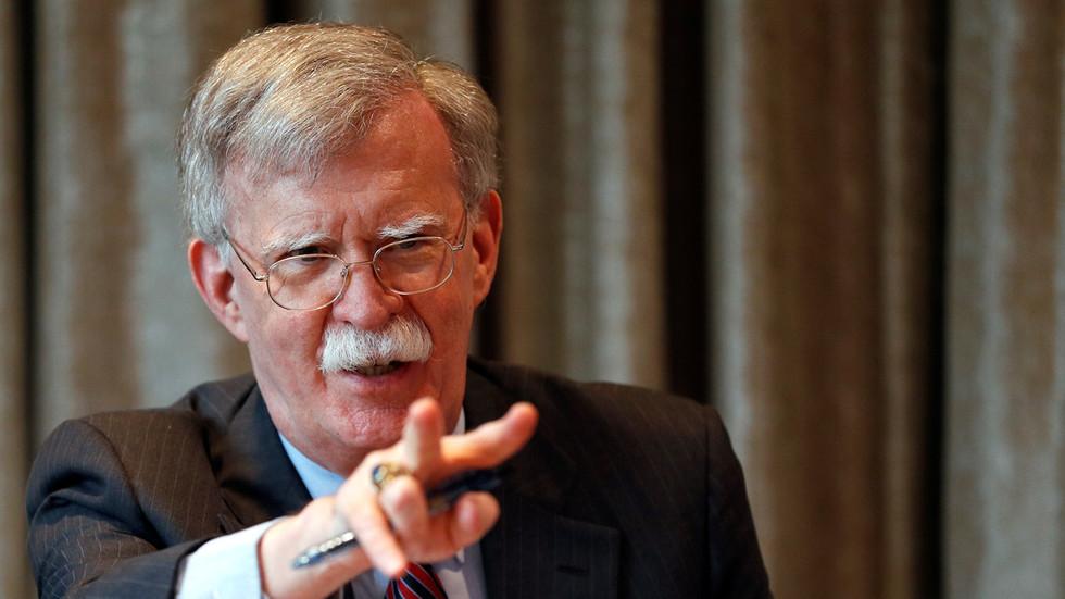 O Conselheiro de Segurança Nacional do EUA, John Bolton, recentemente demitido