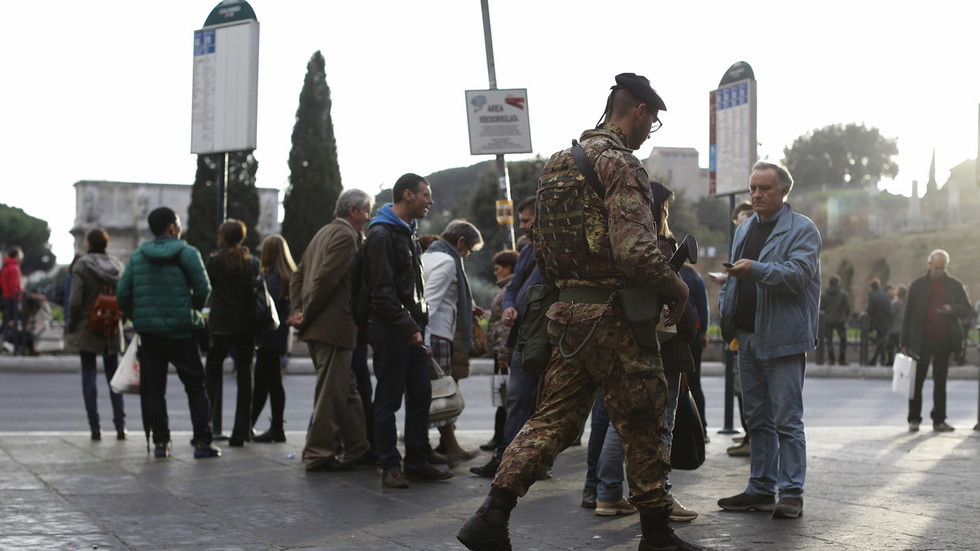 Italian soldier stabbed in Milan central station, attacker shouted 'Allahu akbar' – reports
