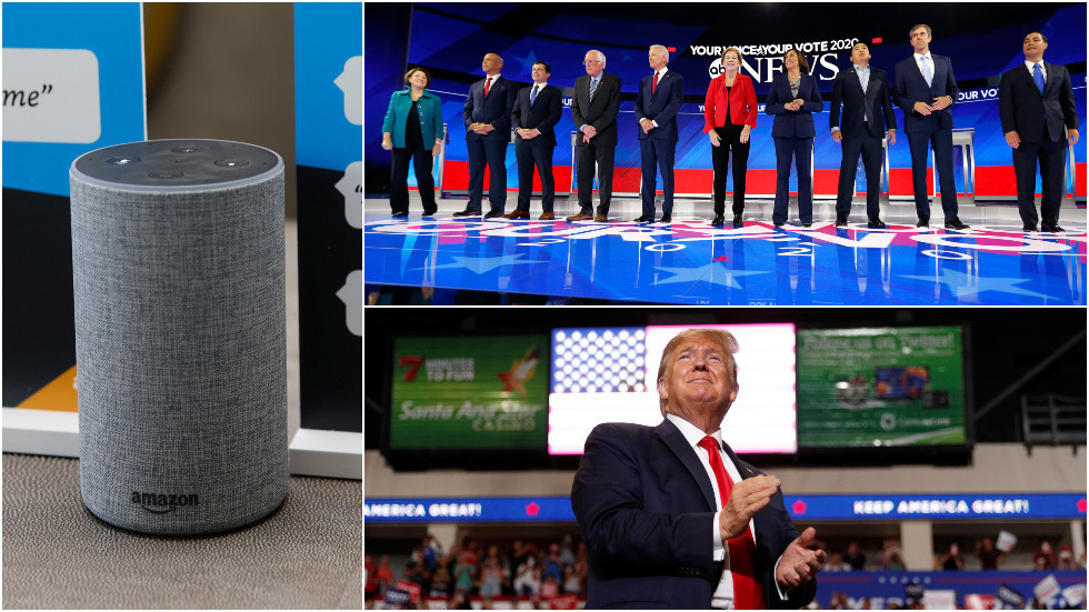 'Alexa, buy politician X'? ROBOTS could soon be meddling in 2020 election as Amazon allows users to DONATE via voice assistant