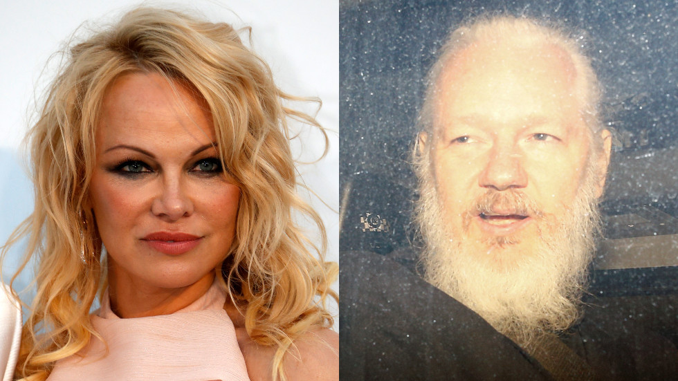'Julian Assange's life is at risk': Pamela Anderson urges UK to free WikiLeaks co-founder