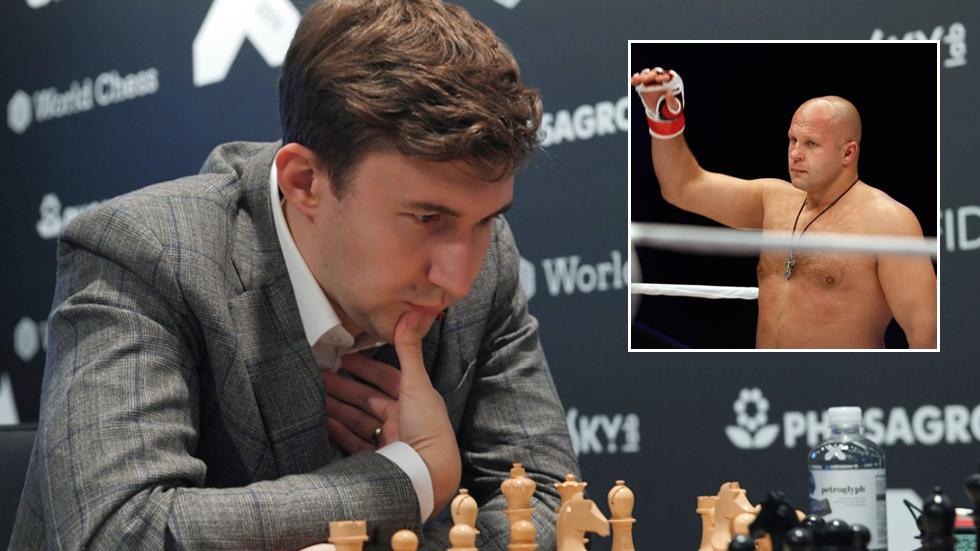 Check mates: Russian grandmaster Karjakin praises MMA legend Emelianenko after pair play chess game