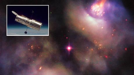 Main image: © ESA/Hubble & NASA, R. Wade et al.; inset: Hubble Telescope © NASA