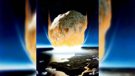 Artist's interpretation of the asteroid impact that wiped out all non-avian dinosaurs. © NASA/Don Davis.