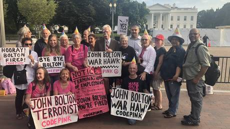 While these antiwar activists from CodePink did not appear saddened by Bolton039;s exit, some in the US establishment have been wringing their hands.