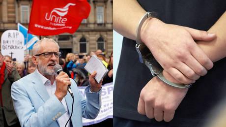 Labour demands 'recall' of UK parliament, as union chief warns BoJo he could face 'citizen's arrest'